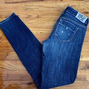 Wildfox Couture Skinny Low Rise Jeans, Size 27